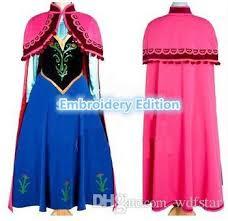 Frozen Halloween Costumes Adults Anna Costume Frozen Princess Anna Dress Cosplay