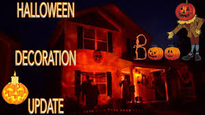 illuminated halloween decorations my halloween decorations update 2017 youtube