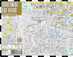 Vegas Monorail Map Streetwise Las Vegas Map Laminated City Center Street Map Of Las