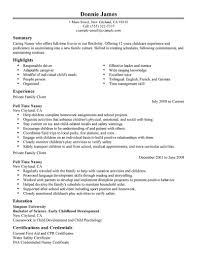 Child Care Cover Letter Samples Nanny Resume Samples Resume Cv Cover Letter