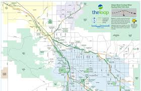 Map Az Bicycle Path The Loop In Tucson Southernarizonaguide Com