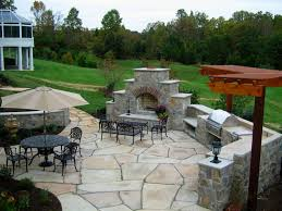 Backyard Cement Patio Ideas by Backyard 50 Outdoor Patio Designs With Fire Pit Fireplace