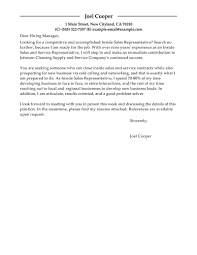 Best Inside Sales Cover Letter Examples   LiveCareer LiveCareer Inside Sales Cover Letter Examples