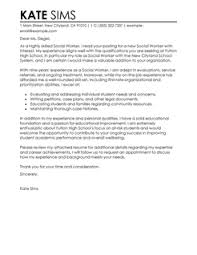 More Social Services Cover Letter Examples