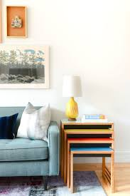 Jewel Tone Living Room Decor Homepolish Reinvents A Cookie Cutter Condo With Color Home Tour