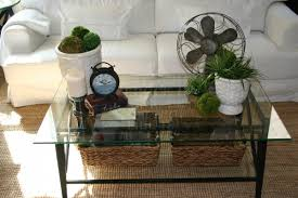 Glass Coffee Table Decor Glass Coffee Table Decorating Ideas - Living room side table decorations