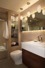 Bathroom Mirror With Lights Built In by Built In Bathroom Shelves Bathroom Traditional With Satin Nickel