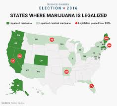 State Map United States by 7 States That Legalized Marijuana On Election Day Business Insider