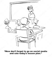 Plan Social Media by Rate Teacher U0027s Lesson Plan On Social Media U2014 Stock Photo