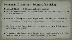 psalms of thanksgiving list a new beginning u2013 sounds of rejoicing nehemiah 12 another list