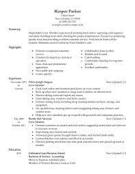 Job Duties On Resume by Crew Member Mcdonalds Resume Job Duties Food And Restaurant