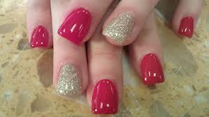 how to gel polish on acrylic nails part 2 youtube