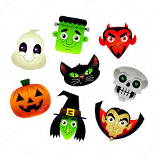 halloween characters clipart a collection of vector illustrations of various halloween