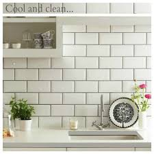 Cream Subway Tile Backsplash by New Kitchen Inspiration Grey Grout Grout And Subway Tiles