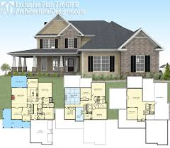 plan 77601fb exclusive country farmhouse with 2 master suites