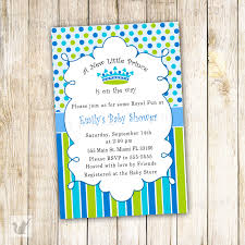 Invitation Card Store New Little Prince Baby Shower Invitation Card Blue Polka