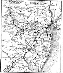 Map Of Pennsylvania And New Jersey by The Central Railroad Of New Jersey