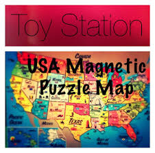 Usa States And Capitals Map by U S A United States Magnetic Puzzle Map Educational Toy States