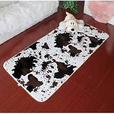 Cow Print Rugs Buy Ustide Animal Print Area Rugs Collection Brown Cow Stripe