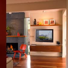 archaiccomely small wall mounted media console features one wooden