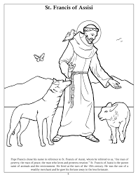 st francis of assisi coloring page st francis of assisi coloring
