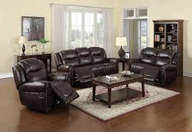 Leather Living Room Sets Sale by Amazon Com Nora Brown Leather Reclining 3 Pc Living Room Sofa Set