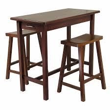 amazon com winsome kitchen island table with 2 drawers and