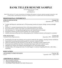 Example Of Resume No Experience by Download Resume For Bank Teller Haadyaooverbayresort Com