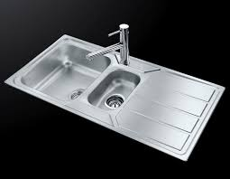 Double Kitchen Sink  Stainless Steel  With Drainboard S - Foster kitchen sinks