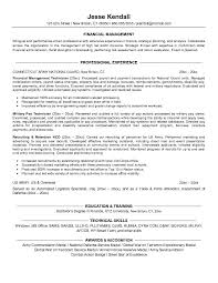 Financial Resume Sample by Example Finance Resume For Military Conversion Free Sample
