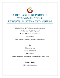 Dissertation on TATA CSR