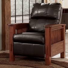 santa fe chocolate high leg recliner signature design by ashley