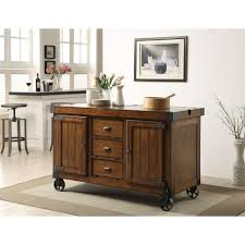 Distressed Black Kitchen Island by Acme Furniture Kabili Distressed Tobacco Kitchen Cart With Storage