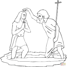 john baptising jesus coloring page free printable coloring pages