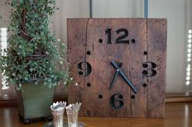 Nautical Home Accessories Hand Made Rustic Reclaimed Wood Clock By The Green Gift Idea