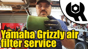 1810 yamaha grizzly 450 foam air filter service youtube