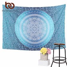 Wall Carpet by Crystal Arrays Wall Hanging Tapestry Bohemia Floral Wall Carpet