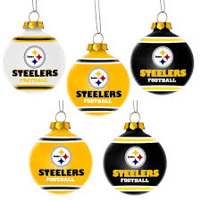 forever collectibles nfl 5 pack shatterproof ball ornaments