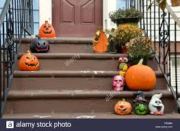 Halloween Decorations Brooklyn Park Slope New York Pumpkins For
