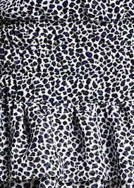 Blue Leopard Print by Mango Ruffled Skirt Leopard Print Dress In Blue Lyst