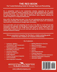the red book unit cost estimator for construction u0026 insurance