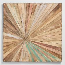 Wood Decor by Antiqued Sunburst Wood Panel Wall Decor World Market