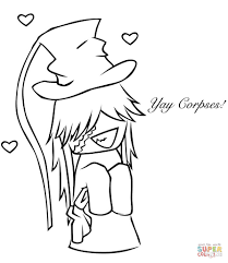 chibi undertaker coloring page free printable coloring pages