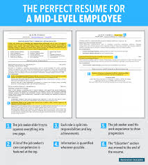 Resume Samples For Jobs In Usa by Ideal Resume For Mid Level Employee Business Insider