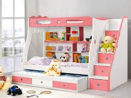 Bunk Beds With Slide And Stairs Bedroom Bunk Beds With Stairs And Desk For Girls Cottage Storage