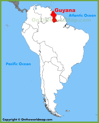 Physical Map Of South America by Guyana Maps Maps Of Guyana