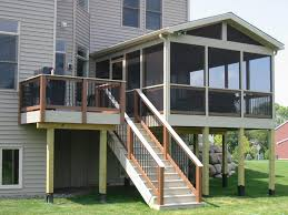 Simple Covered Patio Designs by Wonderful Looking For The Cool And Good Display Screen Porch