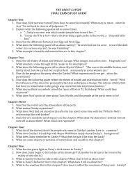 100 great gatsby short answer study guide questions