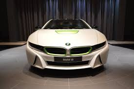 Bmw I8 White - bmw i8 in white and java green is stunning