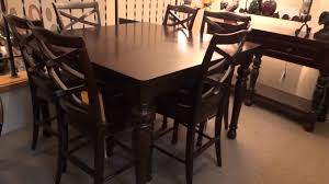 ashley porter counter height extension dining set review youtube